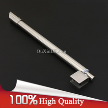 On sale NEW 304 Stainless Steel Universal Shower Bathroom Bar Glass Swing Telescopic Support Rod 90 Degree Glass to Wall Fixed Clamps