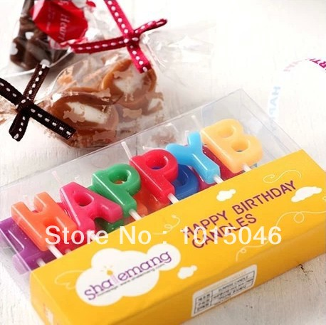 free shipping 1x smoke free birthday candle happy birthday letter cake candle child in candles from home garden on aliexpresscom alibaba group