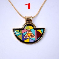 Austria cloisonne enamel pendant ethnic style Pendant Necklace with manufacturers supply can be mixed batch
