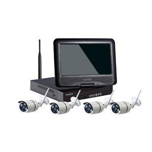 Image 2 - Комплекты беспроводных Wi Fi IP камер 2 МП для систем видеонаблюдения 1080P Комплекты наружных камер безопасности с 10 дюймовым монитором 1T HDD