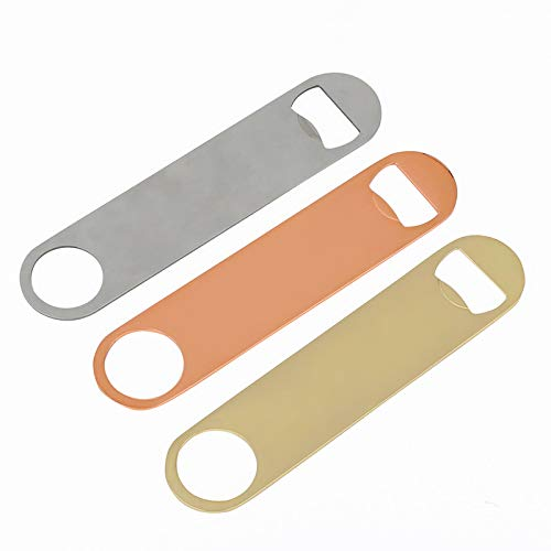 Royalr 2pcs Key Chain Simple Bottle Opener Beer Bar Stainless Steel Screwdriver Fashion Aerated water Opening Tool