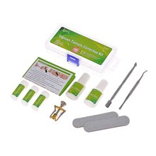 12Pcs Ingrown Toenail Correction Set Ingrown Toe Nail Pedicure Elastic Patch Straightening Clip Brace Foot Care Kit with Glue