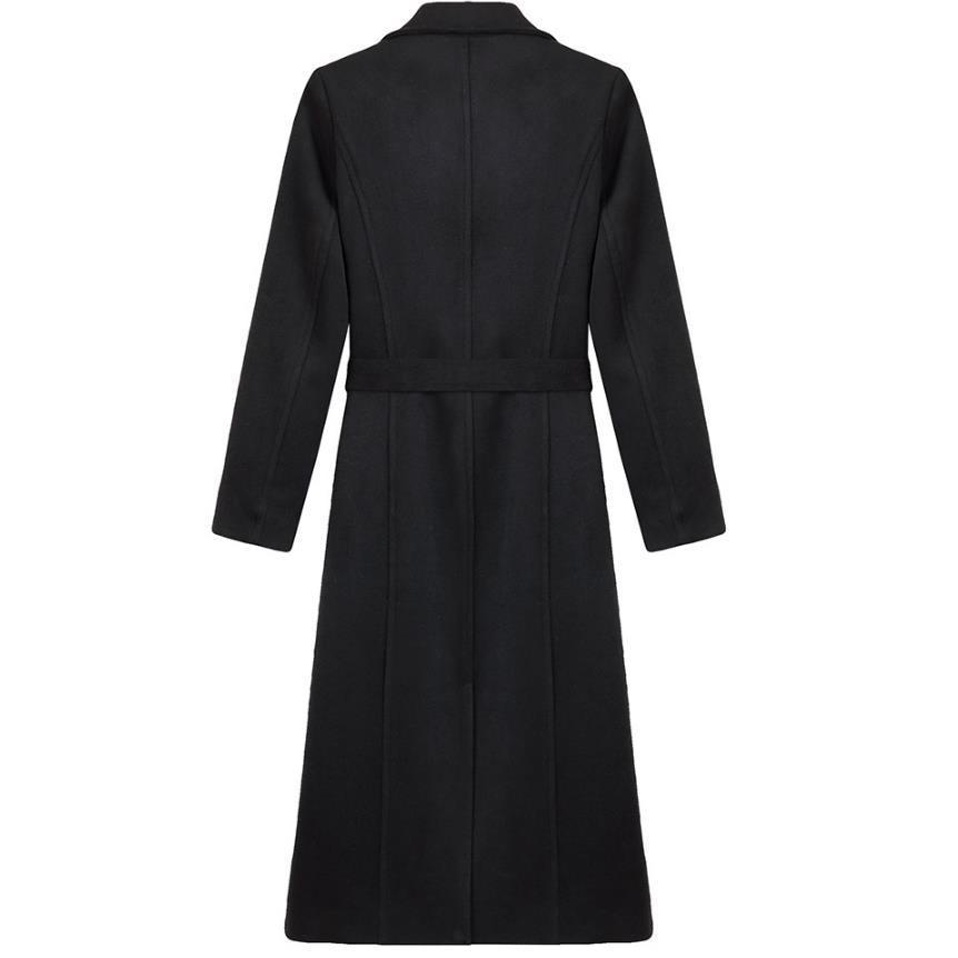Laine Black De Femmes Long Hiver Qualité Chaud Noir Haute Manteau Élégant Mince HqIgwnOHU