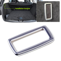 1pc New ABS Chrome Plated Interior Rear Trunk Hook Frame Cover Trim For Mercedes Benz M