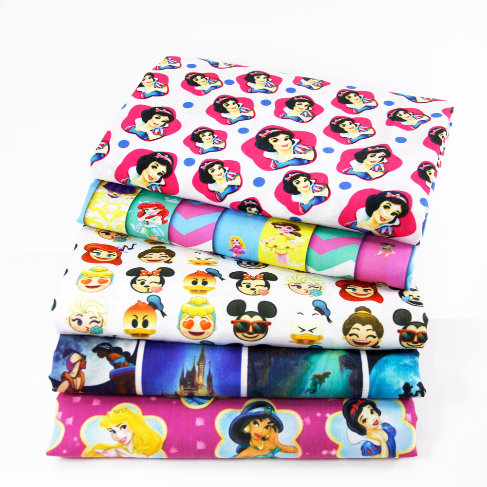 David accessories 50*145cm Cartoon patchwork Polyester cotton fabric for Tissue Kid Bedding home textile for Sewing Tilda,1Yc390