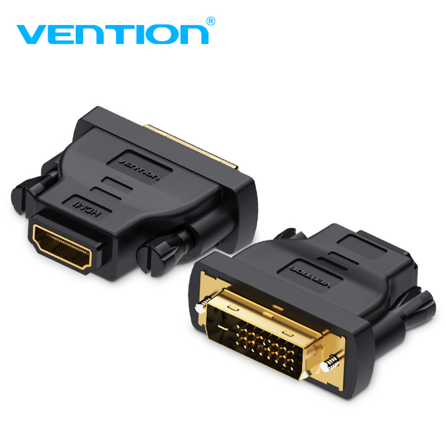 Vention DVI HDMI Adaptor DVI Ke HDMI Converter 24 + 1 Male To Female 1080 P HDTV Konektor untuk PC PS3 Proyektor TV Box Blue-Ray