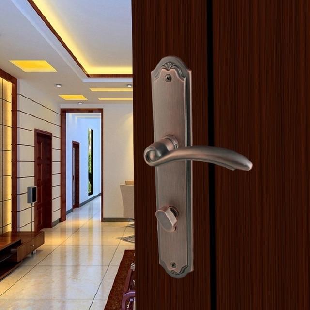 Copper interior door handle solid wood door casting high-grade Europe and paragraph mute lock & Copper interior door handle solid wood door casting high grade ...