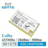 Большой дальности 3000 м rf модуль cdebyte E32-400T20S 433 МГц LoRa SX1278 470 МГц 100 мВт 20dBm Iot передатчик и приемник