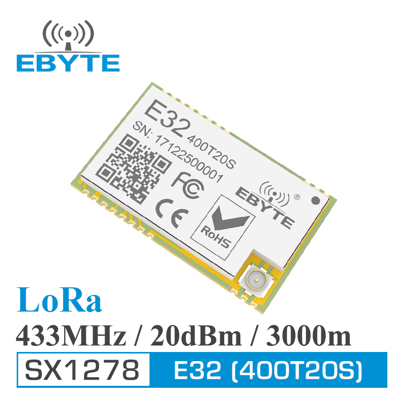 Long Range 3000m rf Module CDEBYTE E32-400T20S 433MHz LoRa SX1278 470MHz 100mW 20dBm Iot Transmitter and Receiver image