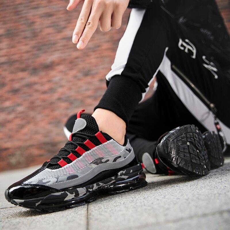 Sycatree Air-coussin chaussures décontractées pour hommes confortable sport baskets à lacets en plein Air maille Fitness Jogging Sport chaussures pour hommes