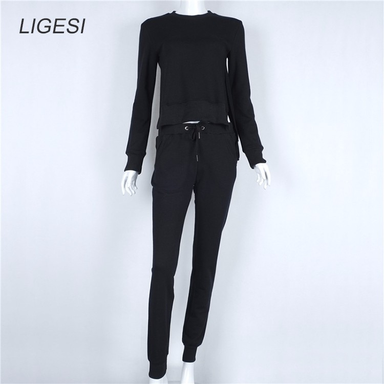 Women's Cotton Tracksuit, 2 Piece Set, Sportswear Suit, Women's Irregular Tracksuit 23