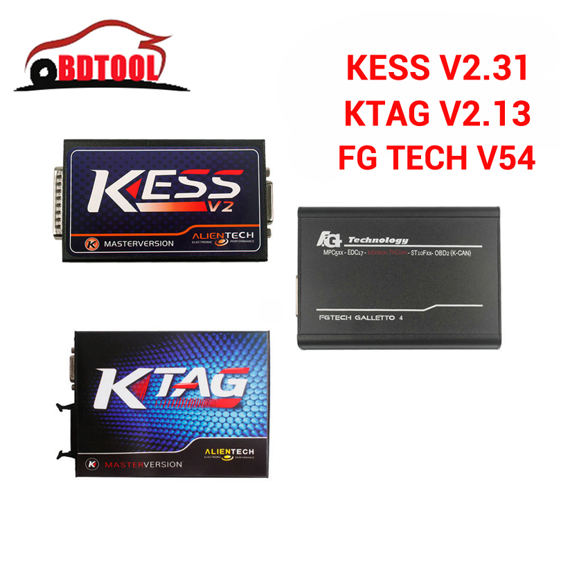 imágenes para Envío Libre de DHL V2.31 V4.036 Firmware + KTAG KESS V2 V2.31 FW 6.070 K tag + Fgtech V54 FG tecnología Galletto 4 ECU Programador Herramienta