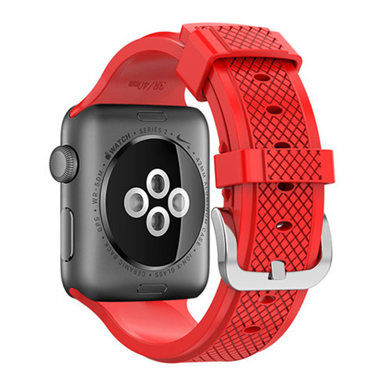 watchband for iwatch 4/3/2/1 rubber strap Sport belt For Apple Watch Band 42mm <font><b>44mm</b></font> 40mm 38mm I Wrist Bracelet watch band image