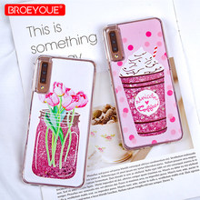 Bling Case For Samsung Galaxy S9 S8 Plus A7 2018 A5 2017 Note 9 S7 Edge A3 A7 J5 J7 J3 2016 Case Glitter Liquid Quicksand Cover(China)
