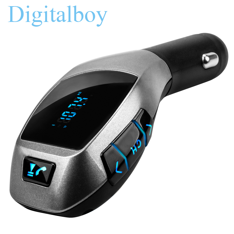 Bluetooth Car Kit Wireless Fm Transmitter Radio Adapter FM Modulator Handsfree Music Mp3 Usb Player Audio For Smartphone car usb sd aux adapter digital music changer mp3 converter for skoda octavia 2007 2011 fits select oem radios