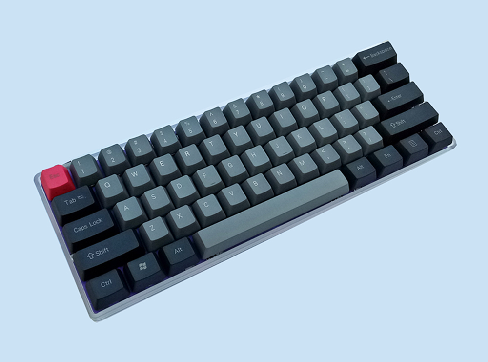 NPKC GH60 Mechanical Keyboard with Led Backlit and RGB Under-growing Fully  Re-programmable by QMK Firmware Free Shipping