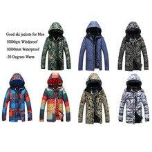 MEN Ski Jackets Outdoor Sports Snowboard Skiing Clothing 10K Waterproof&Windproof -30 Warm Overcoat Winter Snow Costume for Men