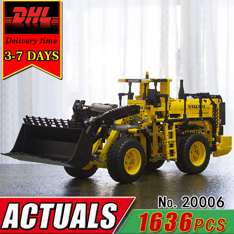 DHL LEPIN 20006 Technic Series Remote Control L350F Wheel Loader RC Car Building Block Model Compatible 42030 Children Brick Toy technican technic 2 4ghz radio remote control flatbed trailer moc building block truck model brick educational rc toy with light