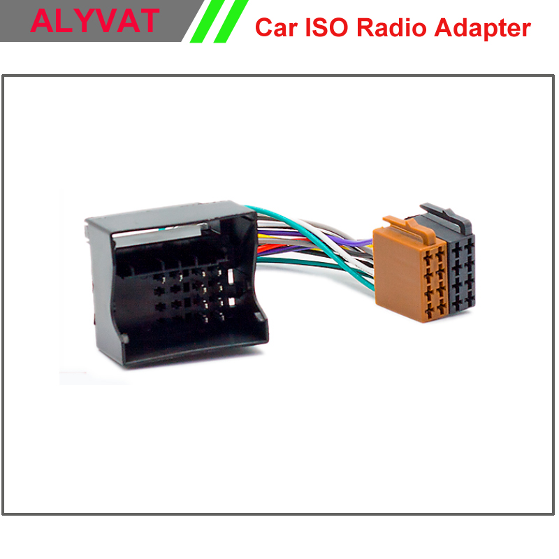 Car ISO Stereo Wiring Harness For Citroen C2 C3 C4 C5 Peugeot ...