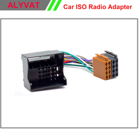 Car ISO Radio Adapter For Citroen C2 C3 C4 C5 Peugeot All Models Auto Stereo Wiring