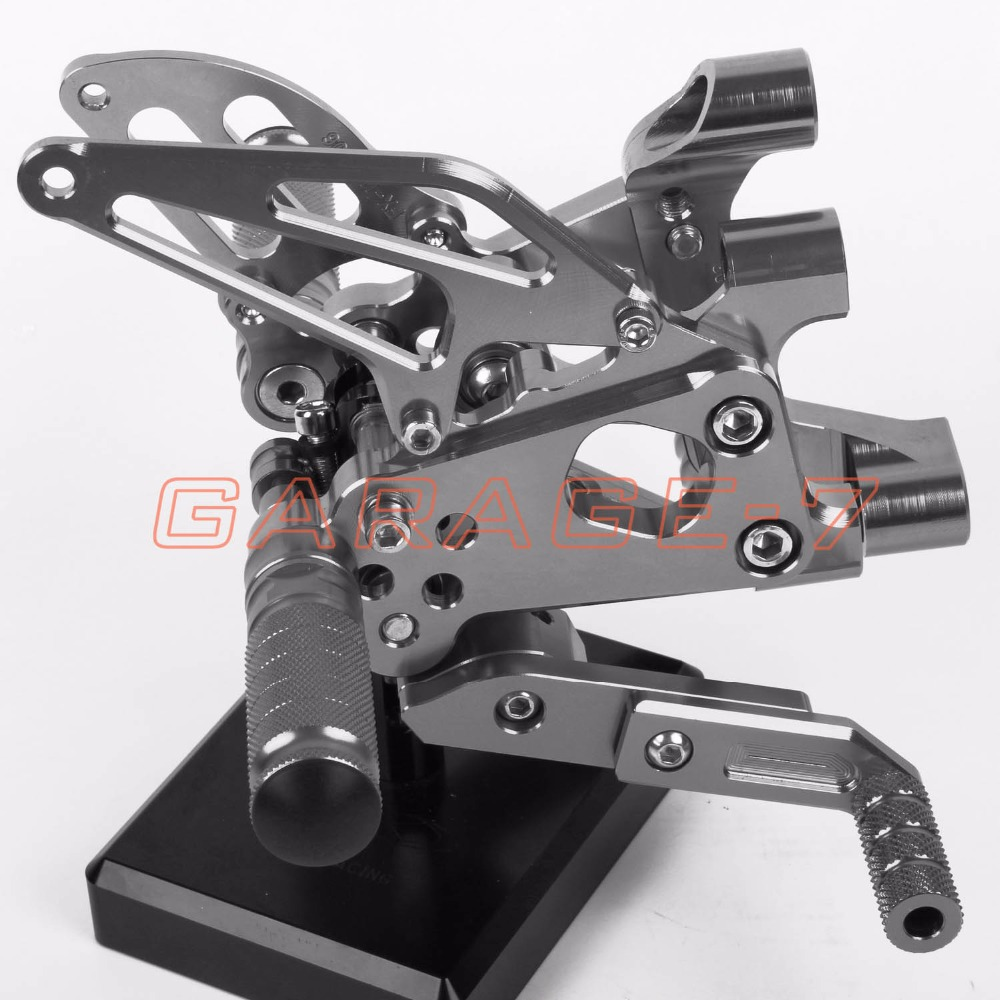 CNC Rearsets Adjustable Foot Rests Rear Set Titanium color For DUKATI Panigale 1199 1199S 1199R 2012-2013 Motorcycle Foot Pegs