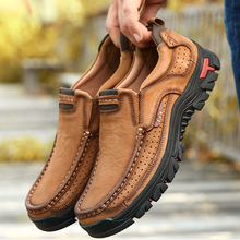 QWEDF Genuine Leather Shoes Men Cow Leather