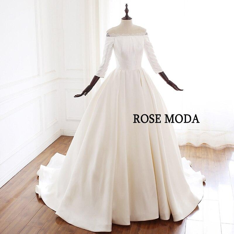 cd72e51182 US $205.19 29% OFF Aliexpress.com : Buy Rose Moda Vintage Wedding Dress  2019 Off Shoulder Princess Wedding Dresses Long Sleeves Real Photos from ...