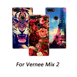 На Алиэкспресс купить чехол для смартфона soft silicone cases for vernee mix 2 painting colorful flower animals and towers tpu phone cover for vernee mix 2 case cover