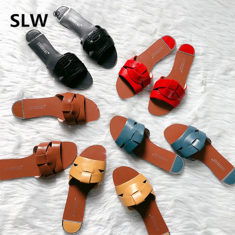 Low Mixed Colors women Fashion slipper Flat Slip-On Round Toe outdoor Narrow Band summer Slides woman modis slides outside  Low Mixed Colors women Fashion slipper Flat Slip-On Round Toe outdoor Narrow Band summer Slides woman modis slides outside