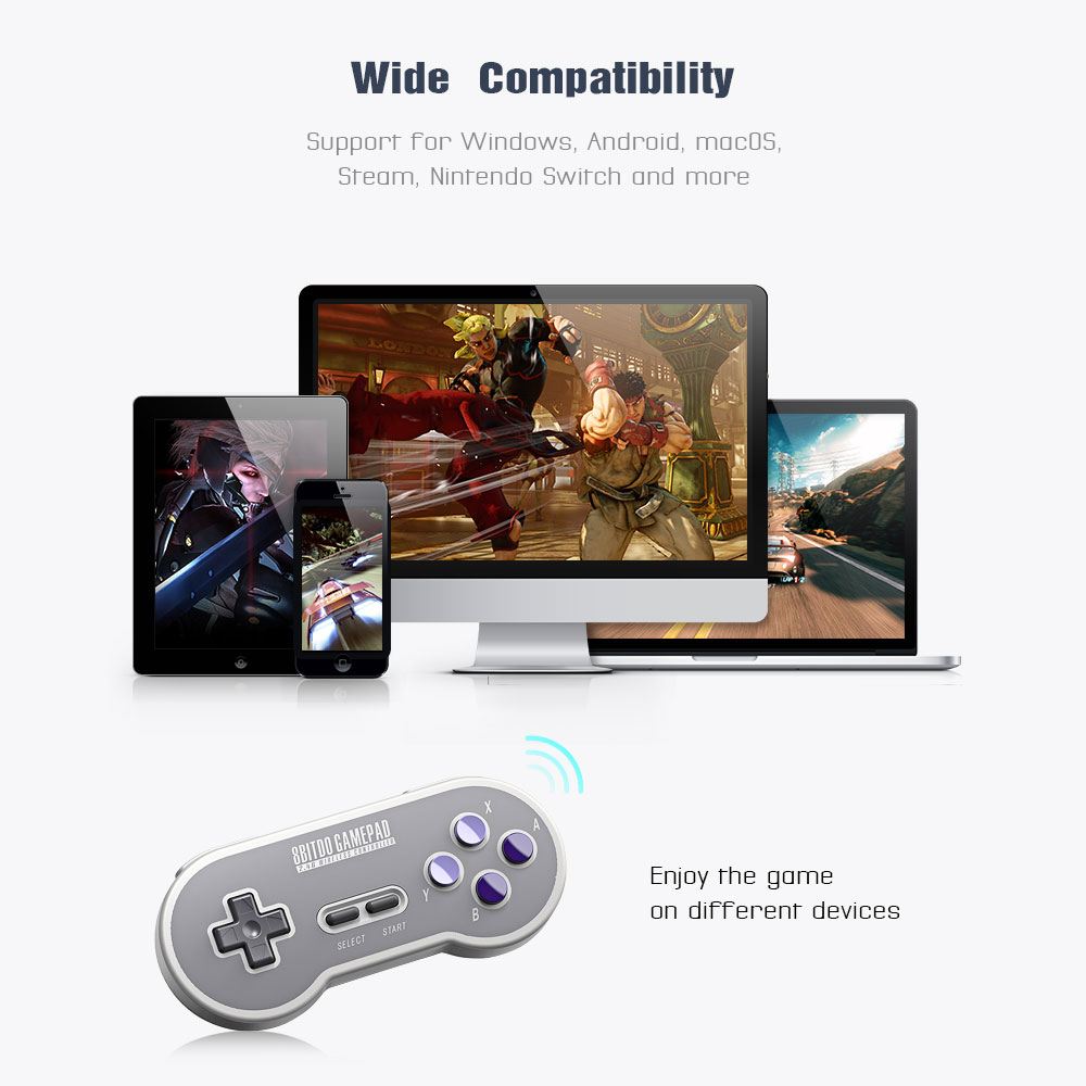 8BitDo SN30 Controller Wireless Gamepad with 2.4G NES Receiver for Windows Android PC Mac 11