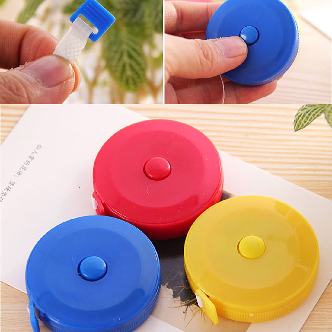 Specially 1 PCS Useful Retractable Ruler Tape Measure Sewing Cloth Dieting Tailor 1.5M Mini Cute Style Random Color