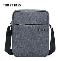 TINYAT Men S Crossbody Bag Multifunctional Men Casual Bag Quality Male Shoulder Messenger Bags Canvas Leather