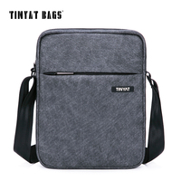 TINYAT Men S Crossbody Bag Multifunctional Men Casual Bag Quality Male Shoulder Messenger Bags Canvas Leather