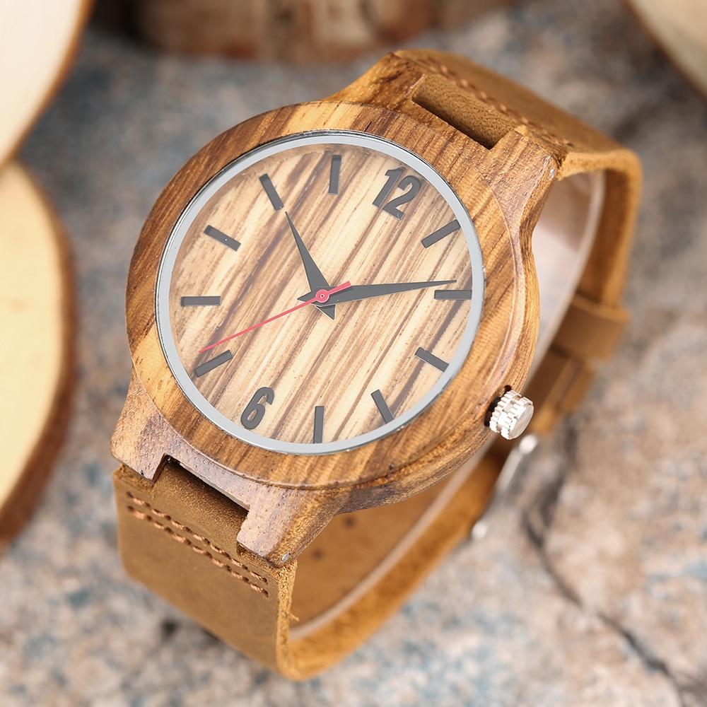 2017 Nuevo Reloj de Madera Creativo Hombres Moda Naturaleza Banda de - Relojes para hombres - foto 1