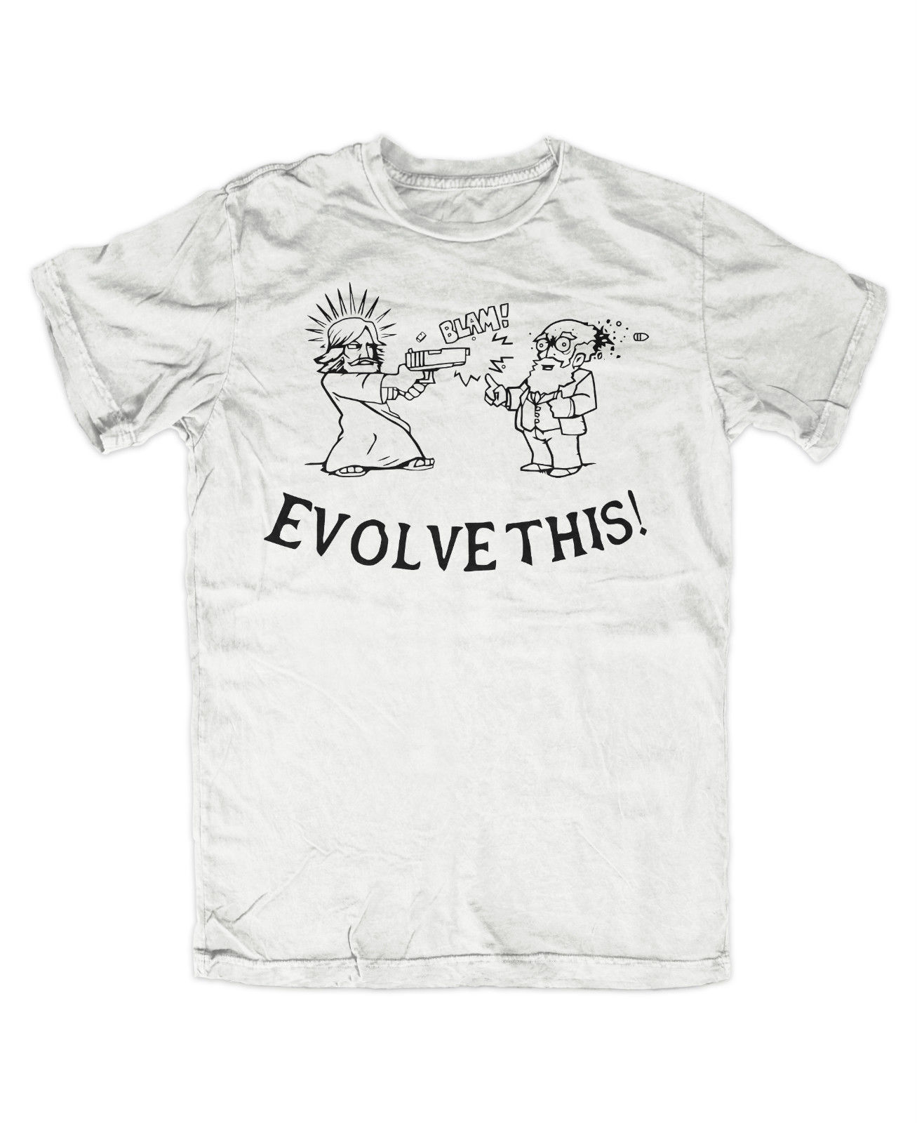 Evolve this T Shirt Darwin Jesus Paul der Alien Simon Pegg Nick Frost Fun Free shipping Tops Fashion Classic Unique gift in T Shirts from Men 39 s Clothing