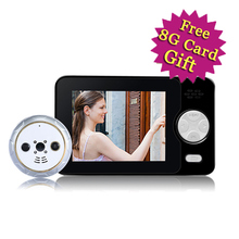 Special Pluggable Design 3 5inch Colorful Wireless Video Doorbell Peephole font b Camera b font PIR