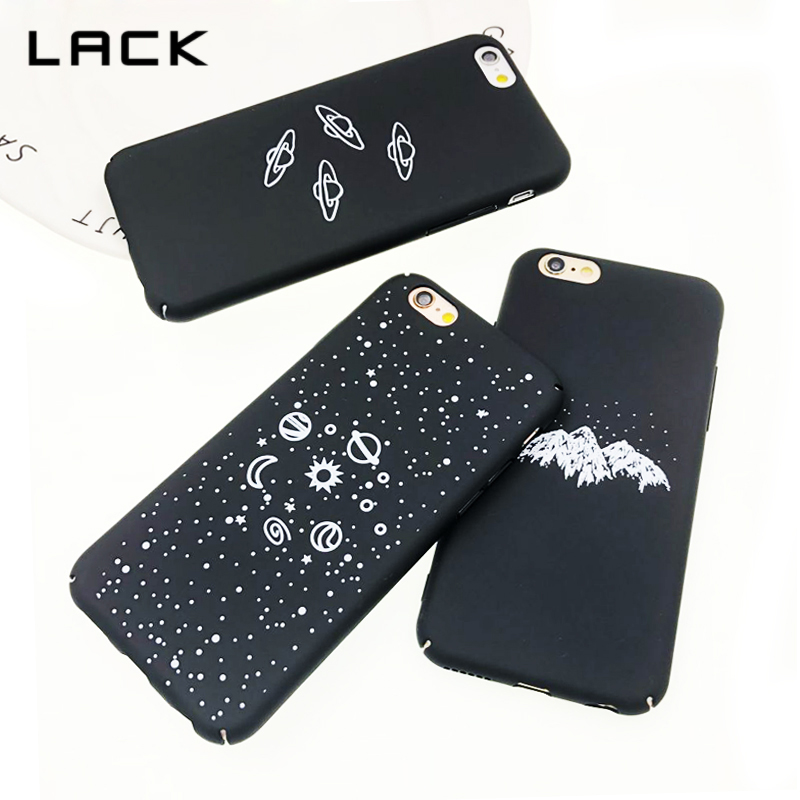 LACK For iphone 6 Case Airship Stars Planet Moon Cartoon Boy Girl Hard Frosted Phone Cases Back Cover For iphone 6 6s Plus Coque