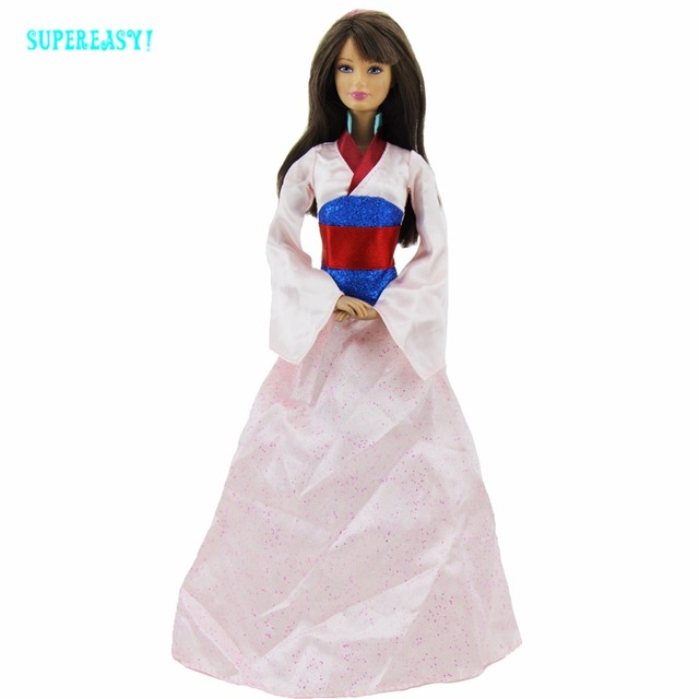 Fairy Tale Princess Mulan Dress Wedding Party Gown Long Robe National  Tradition Clothes For Barbie Doll Dollhouse Accessories 06d8836a210a