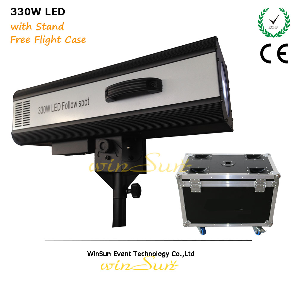 Litewinsune 2018 New 330W LED Follow Gobo Spot Focus Profile Theater Decoration instead 2500W Hologen Lighting litewinsune 330w led spot follow lighting performance stage lighting