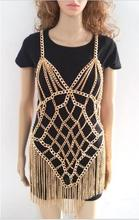 3 Color Sexy Fashion Body Chain Harness Necklace Chain Halter Bra Lingerie Checker Exotic Dress Showgirl Jewelry BJN155614