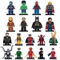 Lecgo18pcs/lote Super heróis Marvel DC Winter soldier/Odin/Batman/Veneno/Cyclops figuras Vingadores Edifício blocos Legoe Compatível