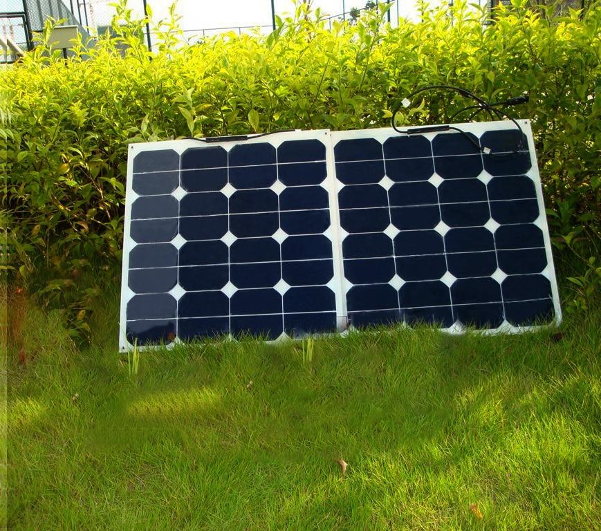 BOGUANG 100w 2PCS 50W flexible solar panel solar module 0.5M cable MC4 connector solar panel 12V rechargeable solar charger 3 100w flexible solar panel efficient