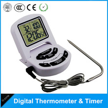Wholesale prices 2017 protable Digital LCD Display oven  Barbecue Thermometer Food Thermometer Timer BBQ Meat Kitchen Cooking Tool