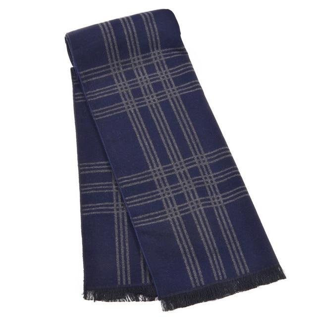 Invierno de los hombres a rayas bufandas y chales de Lujo de marca india manta bufanda foulard echarpe bandana borlas del abrigo de los hombres de negocios