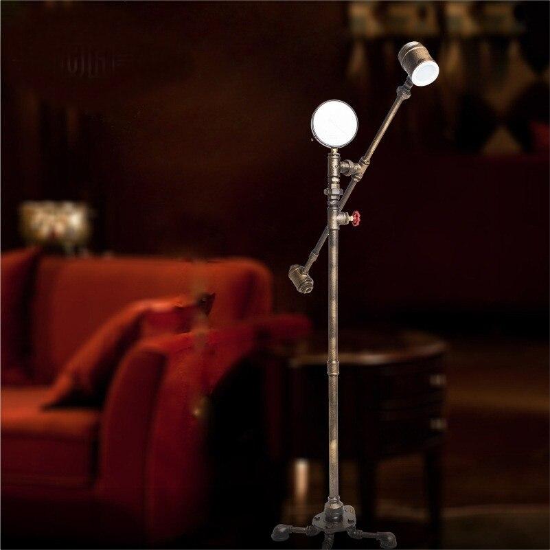 Latest Novelty Modern Water Pipe Floor Lamp Edison Bulb Fixture Lighting For Home Livingroom Bedroom Restaurant