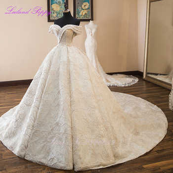 Luxury Ball Gown Wedding Dresses 2019 Sleeveless Pearls Beaded Off the Shoulder Floor Length Vestido de Novia Bridal Gowns - DISCOUNT ITEM  34% OFF All Category