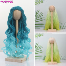 New Arrival Ombre Color Doll Hair Wigs Heat Resistant Synthetic Wire for BJD SD Dolls