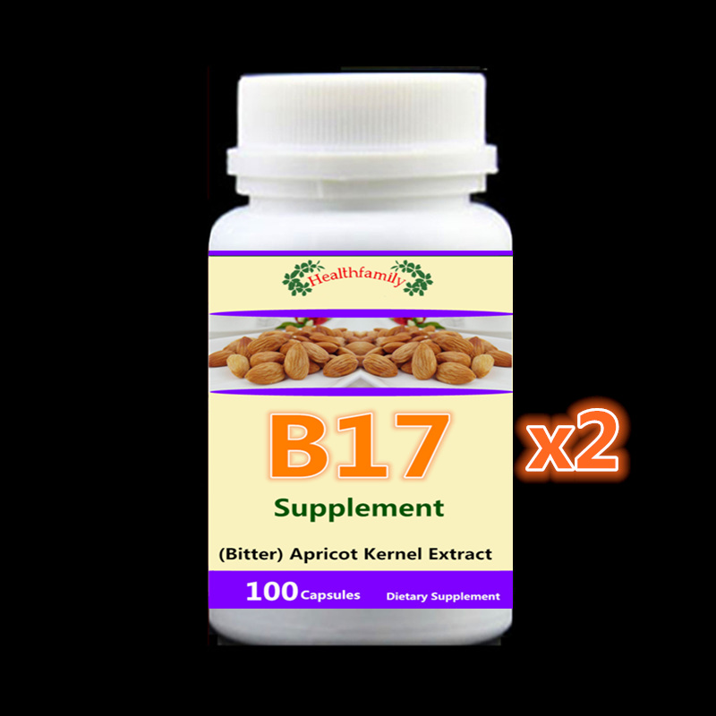 Vitamin B17 Caps (Bitter) Apricot Kernel Extract, Anti-aging Anti-cancer,2 bottle 200pieces vitamin b17 caps bitter apricot kernel extract anti aging anti cancer 100pcs bottle