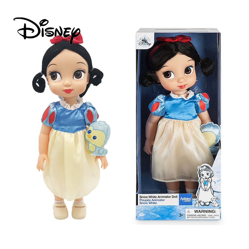 Disney 2019 Silicone Simulation poupée neige blanc dormant beauté cendrillon poupée haut de gamme mode jouets filles cadeaux d'anniversaire