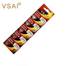 VSAI 10pcs AG9 1.5V 394 LR936 Button Cell Batteries Watch Battery